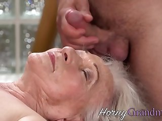 Granny gets facialized after..