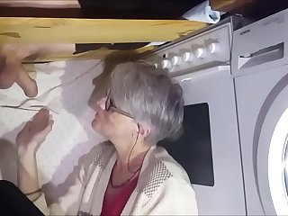 Granny milking hubby from..