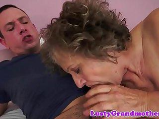 Busty european grandma gets..