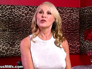 Beautiful blonde cougar..