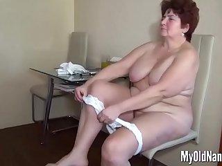 Fat old slut gets eaten in a..