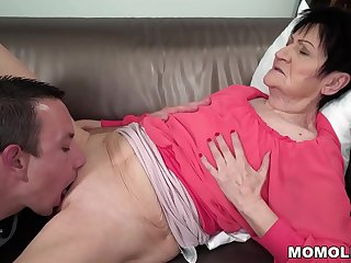 Horny GILF Anastasia Sucking..