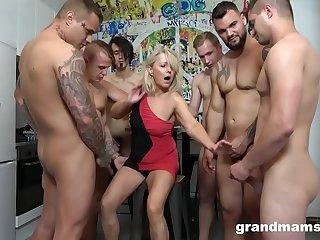 First Ever Grandma GangBang!..