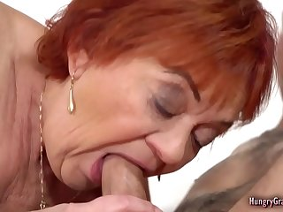 Plump Horny Grandma having a..