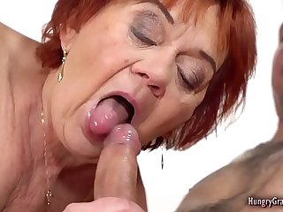 Cock loving granny enjoying..