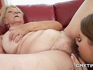 Teen cutie in lesbian porn..