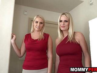Mom and her milf friend fuck..