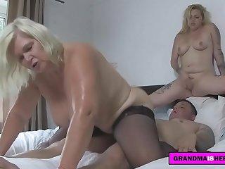 grandma and her friend play..