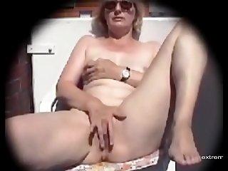 My mom masturbates on our..