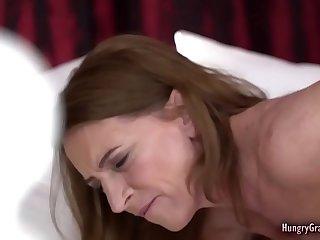 Horny redhead grandma banged..