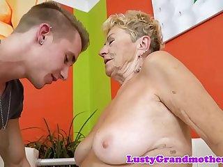 Hairy european grandma..