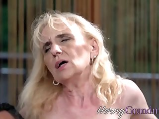 Slutty granny sucking and..