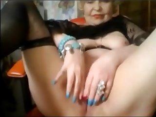 Elegant Elderly Lady Shows..