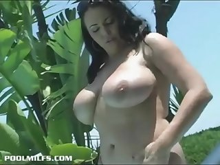 a hot mother with huge tits..