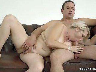 Sexy Blonde Granny Loves..