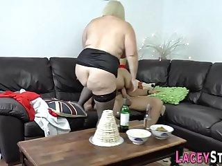 Horny granny enjoys hardcore..