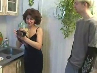 Russian mom and son playing..