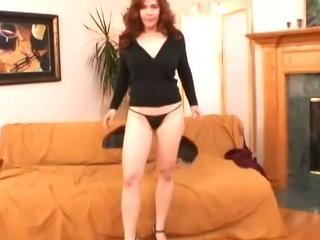 Redhead mom sucking and..