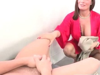 Stepmom seduces son and his..