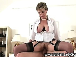 Cock bouncing Lady Sonia..