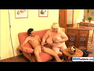 BBW June Kelly fucks a..