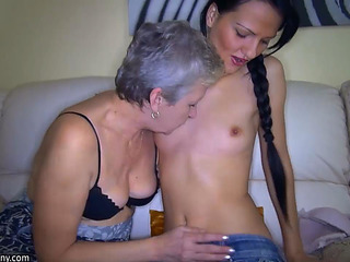 Old Mature StepMom teaches..