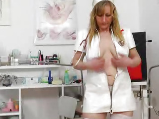 Stunning head nurse gets..
