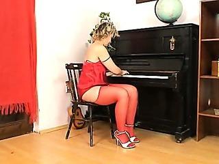 Blonde Milf Jaromira crazy..
