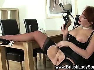 Mature stockings redhead..