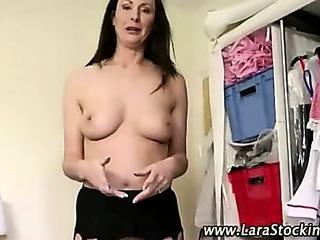 Check nasty stockings mature..