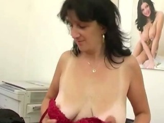 Mature secretary giving POV..