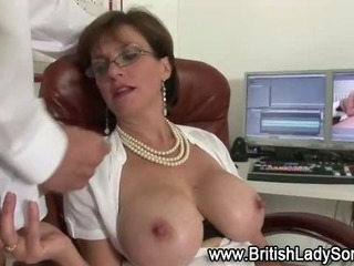 Mature woman gets cumshot..