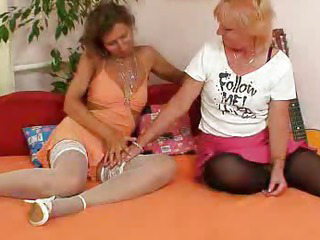 Woolly milf gets toyed by..