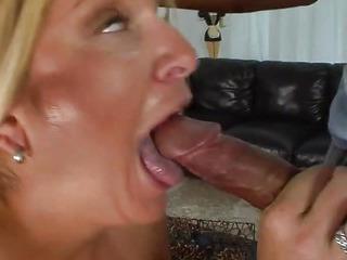 Blonde milf has steamy fun..