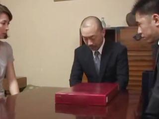 Hisae Has Two Guys To Suck..