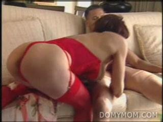 DMM  White MILF in red