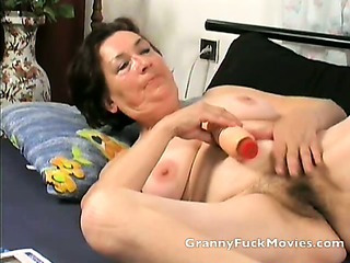 Granny toying her fresh..
