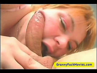 Horny Granny Throat Fucking