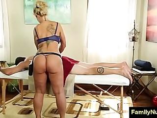 Sexy milf massage and fuck