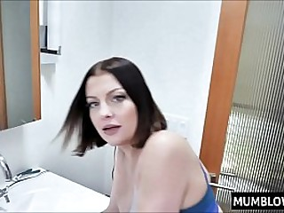 Horny Mom interrupts poor..