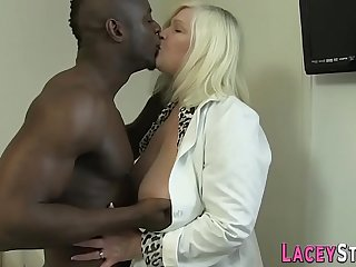 Granny enjoys anal with a..
