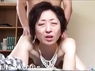 Skinny Asian Granny Fucked..