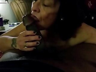 Granny Sucking BBC and Drink..